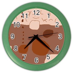 Brown abstract design Color Wall Clocks