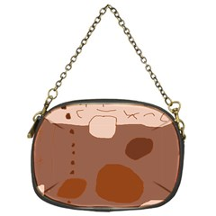 Brown abstract design Chain Purses (One Side)