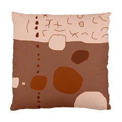 Brown Abstract Design Standard Cushion Case (one Side)