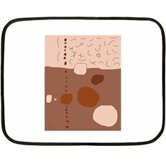 Brown abstract design Fleece Blanket (Mini)