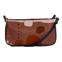 Brown abstract design Shoulder Clutch Bags