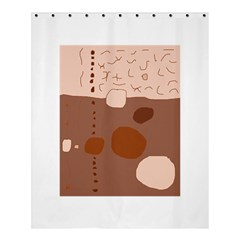 Brown abstract design Shower Curtain 60  x 72  (Medium)
