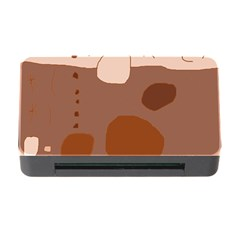 Brown abstract design Memory Card Reader with CF