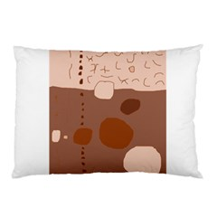 Brown abstract design Pillow Case (Two Sides)