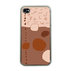 Brown abstract design Apple iPhone 4 Case (Clear)