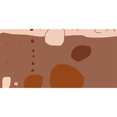 Brown abstract design YOU ARE INVITED 3D Greeting Card (8x4)