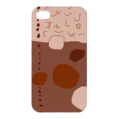 Brown abstract design Apple iPhone 4/4S Hardshell Case