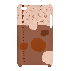 Brown abstract design Apple iPod Touch 4