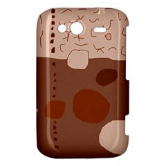 Brown abstract design HTC Wildfire S A510e Hardshell Case
