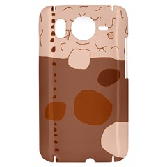 Brown abstract design HTC Desire HD Hardshell Case