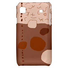 Brown abstract design Samsung Galaxy S i9000 Hardshell Case