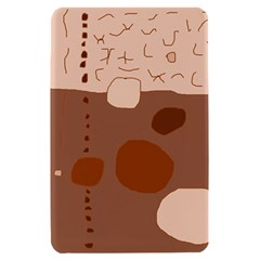 Brown abstract design Kindle Fire (1st Gen) Hardshell Case