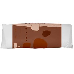 Brown abstract design Body Pillow Case (Dakimakura)