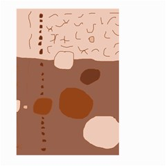 Brown abstract design Large Garden Flag (Two Sides)