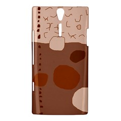 Brown abstract design Sony Xperia S