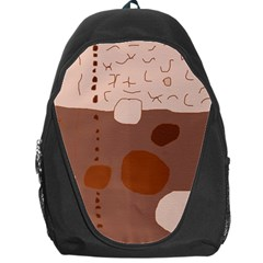 Brown abstract design Backpack Bag
