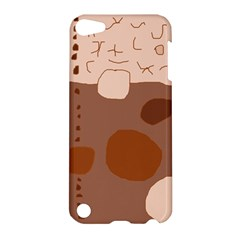 Brown abstract design Apple iPod Touch 5 Hardshell Case