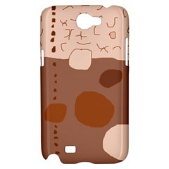 Brown abstract design Samsung Galaxy Note 2 Hardshell Case