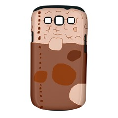Brown abstract design Samsung Galaxy S III Classic Hardshell Case (PC+Silicone)