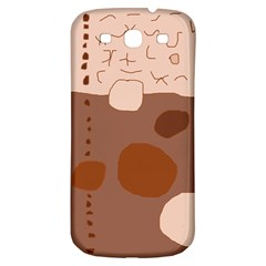 Brown abstract design Samsung Galaxy S3 S III Classic Hardshell Back Case
