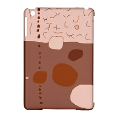 Brown abstract design Apple iPad Mini Hardshell Case (Compatible with Smart Cover)