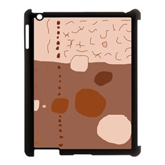 Brown abstract design Apple iPad 3/4 Case (Black)