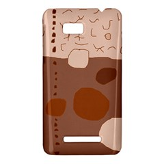 Brown abstract design HTC One SU T528W Hardshell Case