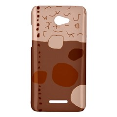 Brown abstract design HTC Butterfly X920E Hardshell Case