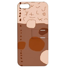 Brown abstract design Apple iPhone 5 Hardshell Case with Stand