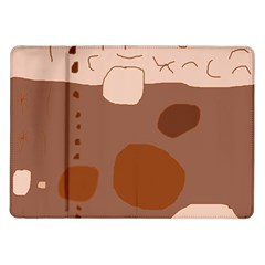 Brown abstract design Samsung Galaxy Tab 10.1  P7500 Flip Case