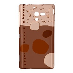 Brown abstract design Sony Xperia ZL (L35H)