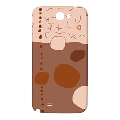 Brown abstract design Samsung Note 2 N7100 Hardshell Back Case