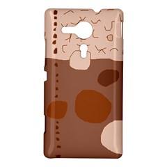 Brown abstract design Sony Xperia SP