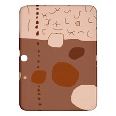 Brown abstract design Samsung Galaxy Tab 3 (10.1 ) P5200 Hardshell Case