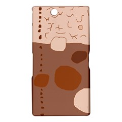 Brown abstract design Sony Xperia Z Ultra