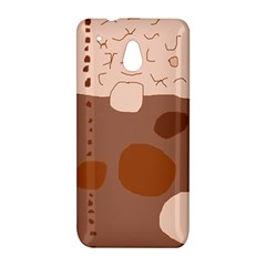 Brown abstract design HTC One Mini (601e) M4 Hardshell Case