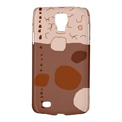 Brown abstract design Galaxy S4 Active