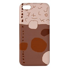 Brown abstract design iPhone 5S/ SE Premium Hardshell Case