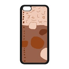 Brown abstract design Apple iPhone 5C Seamless Case (Black)