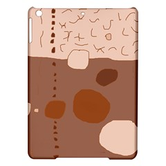 Brown abstract design iPad Air Hardshell Cases