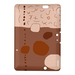 Brown abstract design Kindle Fire HDX 8.9  Hardshell Case