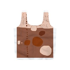 Brown abstract design Full Print Recycle Bags (S)