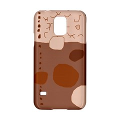 Brown abstract design Samsung Galaxy S5 Hardshell Case