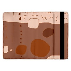 Brown abstract design Samsung Galaxy Tab Pro 12.2  Flip Case