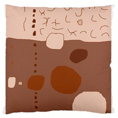 Brown abstract design Large Flano Cushion Case (Two Sides)