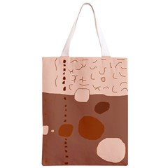Brown abstract design Classic Light Tote Bag