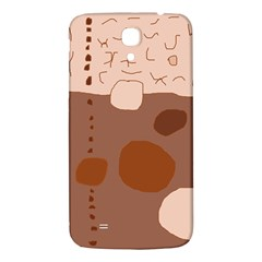 Brown abstract design Samsung Galaxy Mega I9200 Hardshell Back Case