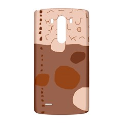 Brown abstract design LG G3 Back Case