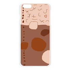 Brown abstract design Apple Seamless iPhone 6 Plus/6S Plus Case (Transparent)