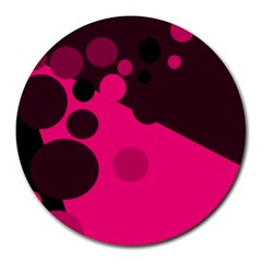 Pink dots Round Mousepads